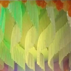 15 FT X 15 FT - Designer Mandap - Ceiling Cloth - Design Brite Lycra Cloth - Multi Colour