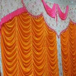 10 FT X 15 FT - Designer Curtain - Parda - Stage Parda - Wedding Curtain - Mandap Parda - Back Ground Curtain - Side Curtain - Made Brite Lycra - Multi Color