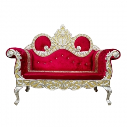 Cherry Color - Heavy Premium Metal Jaipur Couches - Sofa - Wedding Sofa - Wedding Couches - Made of High Quality Metal & Wooden