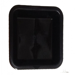 5 Inches Snack Plate - Square shape Chat Plate - Made Of Food Grade Virgin Plastic - Black color