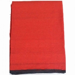 9 FT X 18 FT Premium - Heavy Acrylic - Dari - Dhurrie - Rugs - Satranji - Floor Mat - Made of cotton - Red Color - Weight - 7 KG