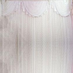 10 FT X 18 FT - Designer Curtain - Parda - Stage Parda - Wedding Curtain - Mandap Parda - Back Ground Curtain - Side Curtain - Made Of 24 Gauge Brite Lycra - White Color