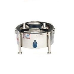 10 Inch - Steel Chula - Round - Bhathi - Made Of Stainless Steel
