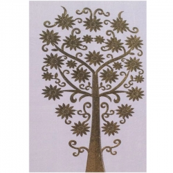 5 FT X 10 FT - Artificial Panel -Velvet Pannal Cloth - Embroidered Work - White Color