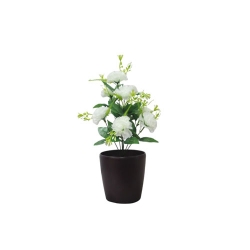 1.2 FT - Artificial Flower Bunches - Fake Flowers Artificial Plant without Pot - White Color