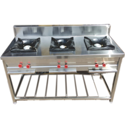 22 Inch - Three Burner - Three Plates - Gas Range - Made Of Stainless Steel