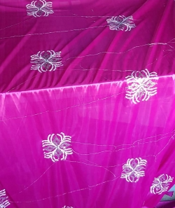 Designer Galaxy Cloth - Embroidery Work - 46 Inch Panna - Fine Fabric Heavy Quality Cloth Material  - Hand Made Work