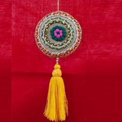 12 Inch - Jhumar - Parrot Hanger - Wall Hanging - Door Jhumar - Multi Color