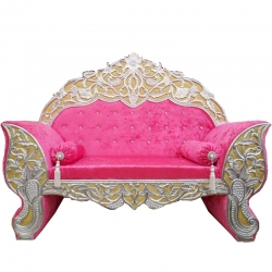Pink Color - Heavy Premium Metal Jaipur Couches - Sofa - Wedding Sofa - Wedding Couches - Made of High Quality Metal & Wooden