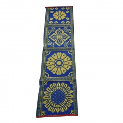 1.5 FT X 15 FT - Cotton Patti - Bhojan Patti - Taat Patti - Multi Color