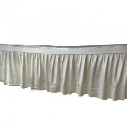 15 FT - Table Cover Frill - Made Of Crush Cloth - Off White Color