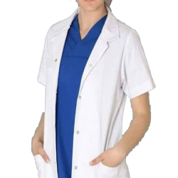 Doctor Coat - Cotton Coat  - With Front 2 Pocket - White Color