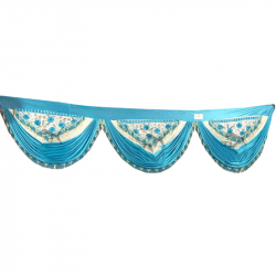 30 FT - Designer Zalar - Scallop Zalar - Chain Scallop Zalar - Kantha - Jhalar - Made of Lycra - Multi Color