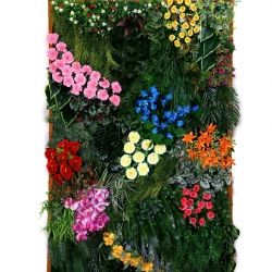 4 FT X 6 FT - Artificial Flowers Wall - Flower Decoration - Multi Color