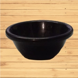 Small Katori - Curry or Soup or Dessert or Chatni  Bowls Made Of Food-Grade Virgin Plastic - Black  Color