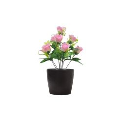 1.2 FT - Artificial Flower Bunches - Fake Flowers Artificial Plant without Pot  - Light Pink Color