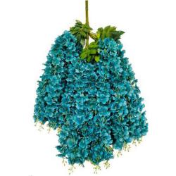 Height - 42 Inch - Hydrengea Wisteriya - Latkan - Flower Decoration - Artificial Latkan - Plastic Latkan - AF 1032 - 746 - Sky Blue Color - 1 Packet ( 12 Pieces )