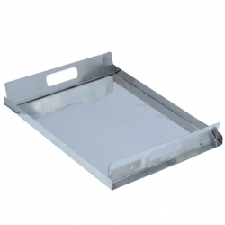 Stainless Steel Munching Serving Tray - L X B X H (16 X 12 X 2 Inch) Weight - 1 Kg
