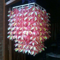 1.2 FT - Ceiling Jhumar - Fancy Jhumar - Hanging Jhumar - Pink Color - Weigh 3 KG