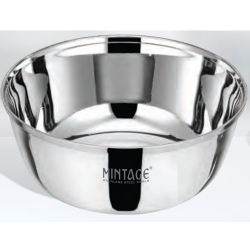 6 Inch - Bowl Matrix - Plane Bowl - Mirror Finish - Made Of Stainless Steel - Set Of 6