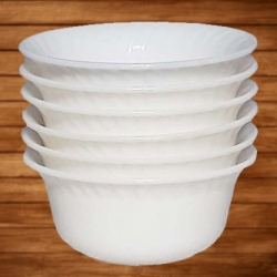 3 Inch Bowl - Katori - Made Of Food-Gradualness Virgin Plastic - White Color