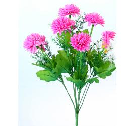 Height 16 Inch - Deliya Bunch - AF- 562 - Leaf Bunch - Pink Color