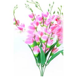 Height 24 Inch - Heavy Glad Bunch X 5 - AF- 312 - Leaf Bunch - Light Pink Color