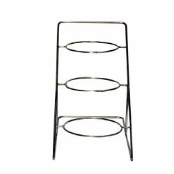 12 Inch - Salad Stand - Three Tier Ring shaped Racks Stand - Made of Stainless Steel