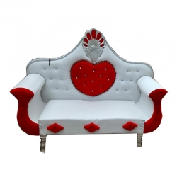 Red & White Color - Regular - Couches - Sofa - Wedding Sofa - Wedding Couches - Made Of Wooden & Metal