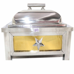 7.5 LTR - Golden Chafing Dish - Chafing Dish - Hot Pot - Made Of Stainless Steel