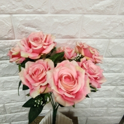 14 Inch - Artificial Flower Bunches - Flowers Artificial Leaf For Wedding - Reception - Home Decor