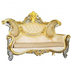 Golden Color - Udaipur - Rajasthani - Heavy - Couches - Sofa - Wedding Sofa - Wedding Couches - Made Of Wooden & Metal.