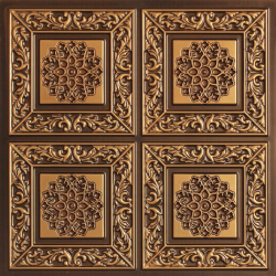 2 FT X 2 FT - Wedding Decorative Panel - Background Pannel - Made Of PVC - Antique Brown Color
