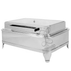 10 LTR - Full Glass Indian Hydraulic Chafing Dish - Garam Set - Made of Stainless Steel