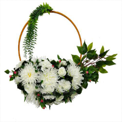20 Inch  X 16 Inch - Hanging Frame Ring - Artificial Flower With Frame - For Indoor & Out Door Decoration - Multi Color