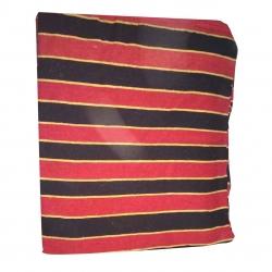 8 FT X 10 FT - Regular Quality - Dari - Dhurrie - Rugs - Satranji - Floor Mat - Red & Black Color