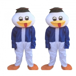 Duck Adult Costume - Party Mascot - Made of High Quality Plush Material - Set of 2