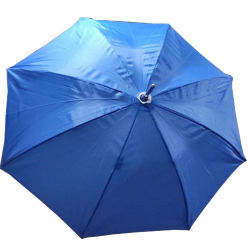 24 Inch Height & 28 Diameter - Umbrella Handicraft Walking Stick Umbrella - Blue Color