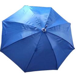 24 Inch Height & 28 Diameter - Umbrella Handicraft Walking Stick Umbrella - Blue Color