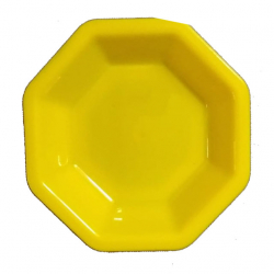 4.9 Inches Snacks Plates - Chat Plates Made Of Food Grade Virgin Plastic Material - Yellow Color