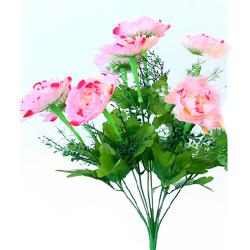 Height 16 Inch - Morifolium Bunch - AF - 561 - Leaf Bunch - Light Pink Color