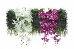 2.5 FT - Plastic Artificial Flower Panel - Flower Carry - Flower Decoration - Multi Color