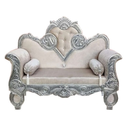 Cream Color - Heavy Premium Metal Jaipur Couches - Sofa - Wedding Sofa - Wedding Couches - Made Of High Quality Metal & Wooden
