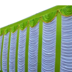 10 FT X 20 FT - Parda - Curtain - Stage Parda - Wedding Curtain - Mandap Parda - Made Of Brite Lycra - Multi Color