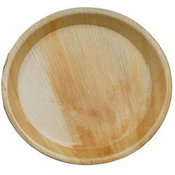 6 Inch - Round Shallow - Disposable Dinner Plate - Areca Leaf Round Shallow Plates