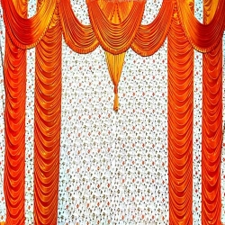 10 FT X 15 FT - Parda - Stage Parda - Wedding Curtain - Mandap Parda Made Of Brite Lycra