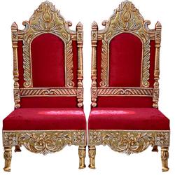 Red Color - Udaipur - Heavy - Premium - Mandap Chair - ..