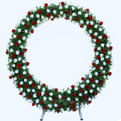7.5 FT X 7 FT - Multi Color - AF - Selfi Ring - 3 - Selfi Stand - Artificial Flower Entry Gate With Stand - For Indoor & Out Door Decoration