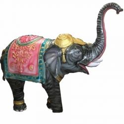 6 FT x 6 FT - Elephant Fiber Statue for Decoration of Wedding / Reception.