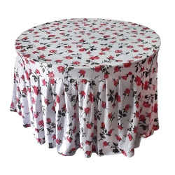 4 FT x 4 FT - Round Table Cover - Made of Premium Quality Lycra Cloth - Printed - Multi Color